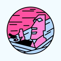 Pink Landscapes Stickers
