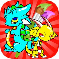 Coloring Books For Kids - Drawing Painting The Good Dragon Games