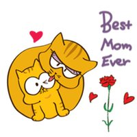 Kitty and Mother Cat Sticker