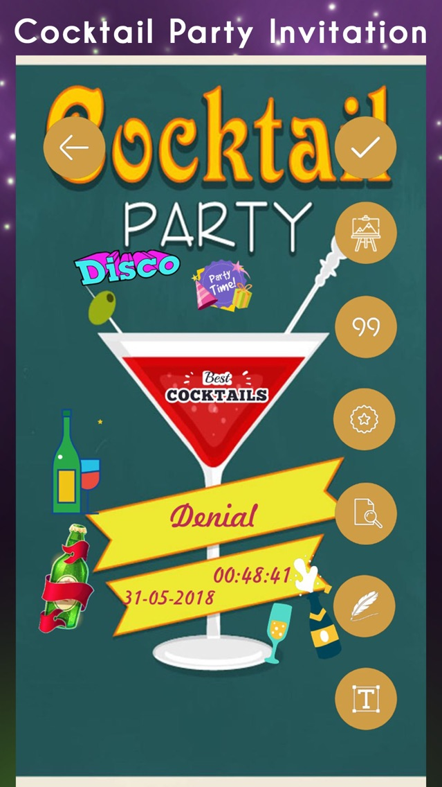 Cocktail Party Invitation Card App For Iphone Free