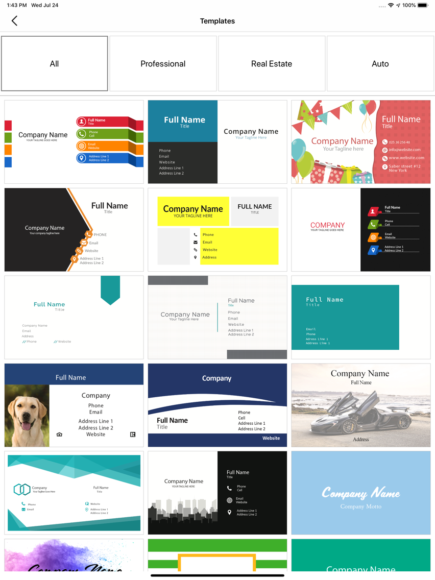 My Business Card Maker, Studio App for iPhone - Free