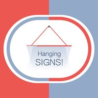 Hang a Sign! (Red/Blue)
