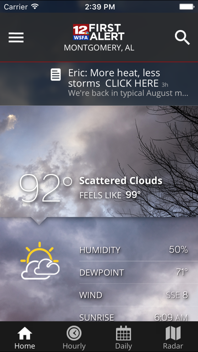 WSFA First Alert Weather App for iPhone - Free Download WSFA