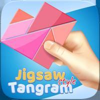 Jigsaw Style Tangram Geometry