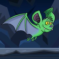 Green Bat In The Cave