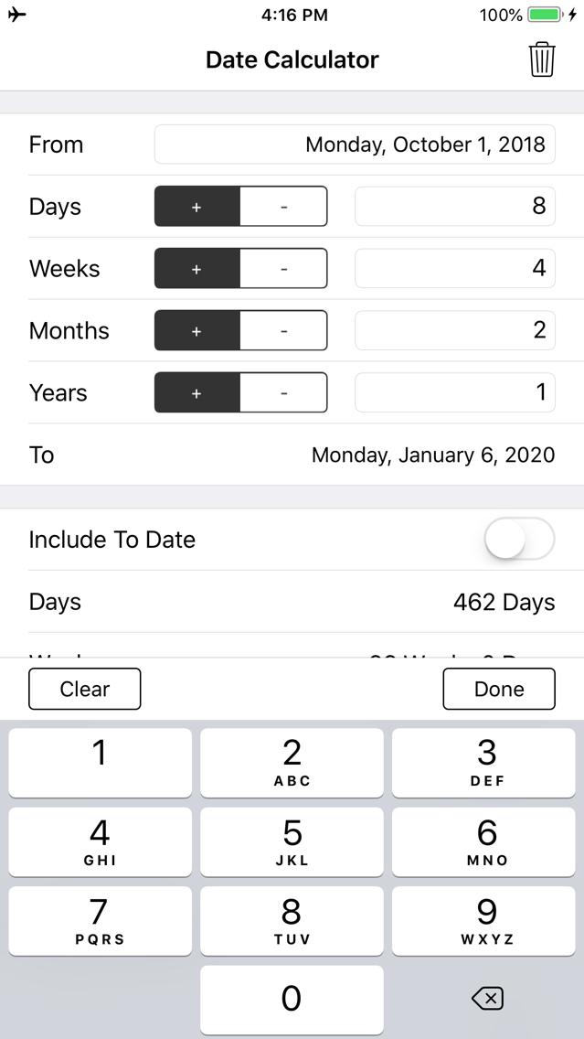 Date and Time Calculator App for iPhone - Free Download Date and