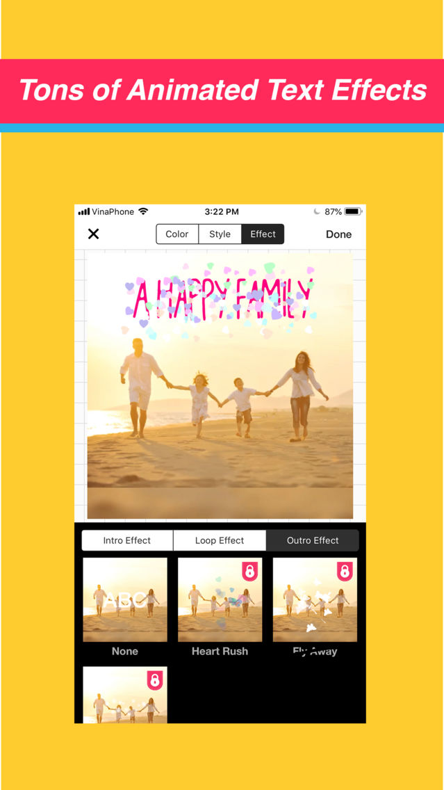 Video Maker Text Sticker Music App for iPhone - Free