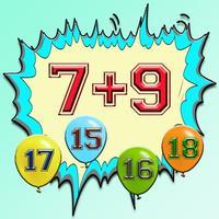 Balloon World Cool Mathmatics Addition Fun Quiz for Kids