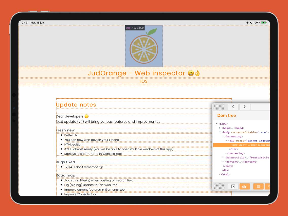 JudOrange - Web Inspector App for iPhone - Free Download