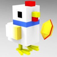 Crossy Tiny Chick Tappy - Sky Surfers Running