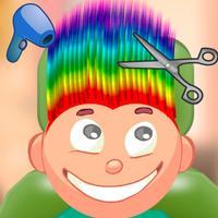Child game / rainbow hair cut