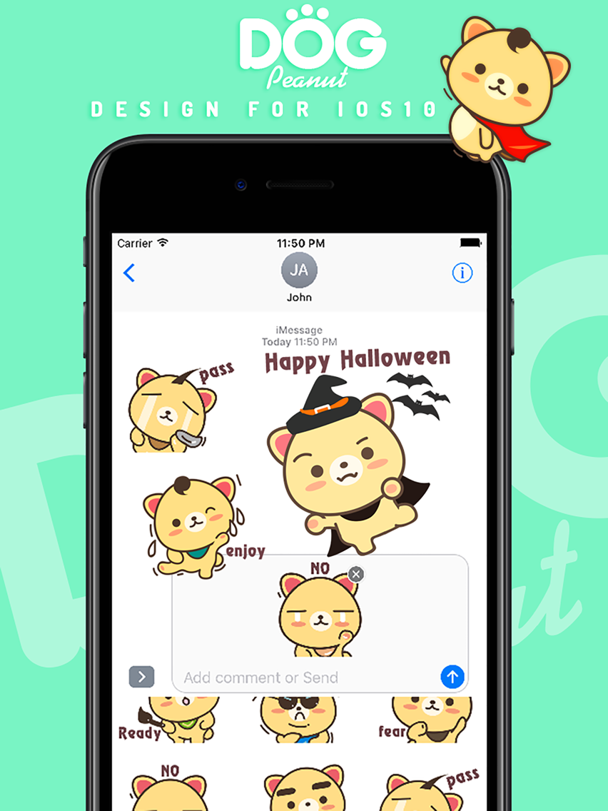 Peanut Dog Sticker Pro - Christmas New Year Emoji App for