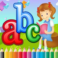 Coloring Book ABC Alphabet Lower children age1-10