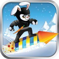 Racing Ninja Bunnies - XMAS nitro rocket warrior multiplayer christmas stunt action game for kids!