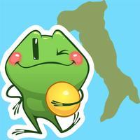 Travel Frog - iMessage Sticker