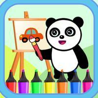 Panda Vehicle Coloring ABC