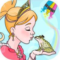 Fairy Princess Coloring Frames