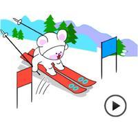 Animated Winter Sports Sticker