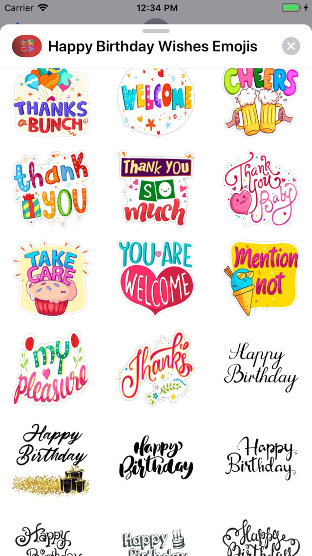 Happy Birthday Wishes Emojis App For IPhone