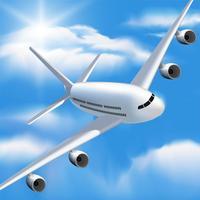 Aircraft Plane Simulator 3D - Fly-ing real jet airplane SIM racing, landing flight pilot simulation game