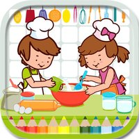 Printable Cooking Coloring Book Game For Kids