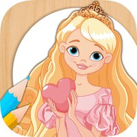 Paint Rapunzel coloring princesses fingerprinting
