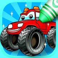 Kids Coloring Book: Monster Trucks
