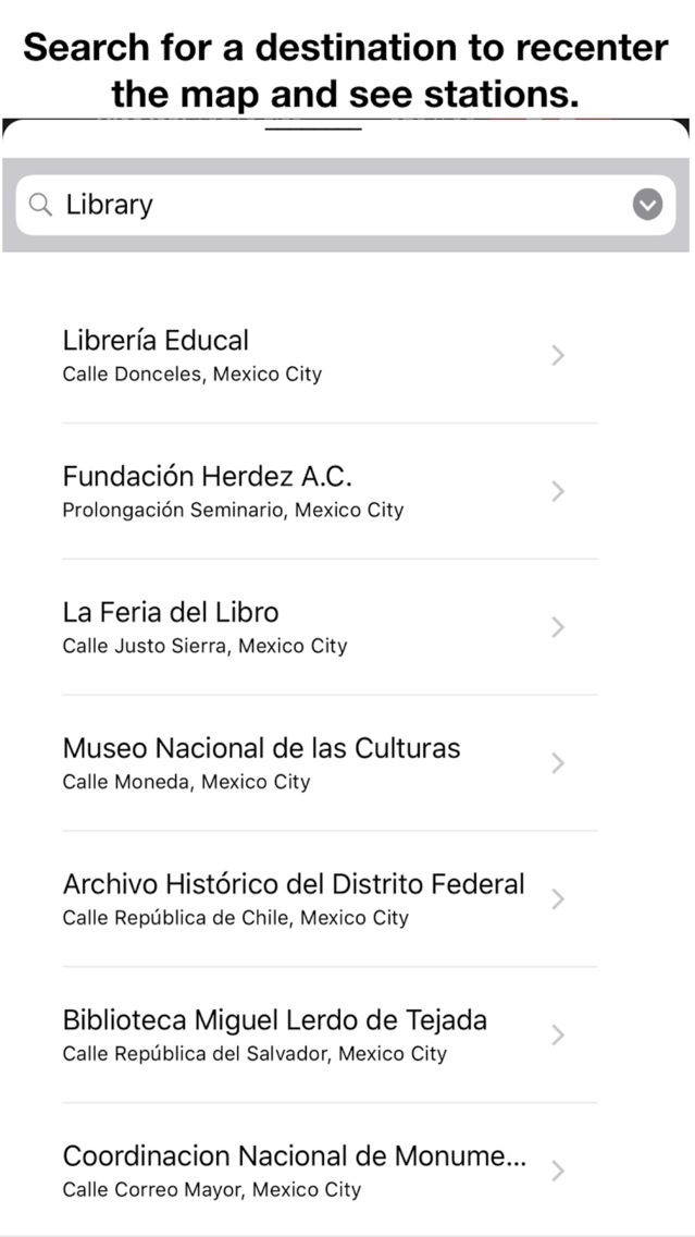 Bike Stations Mexico City App for iPhone - Free Download