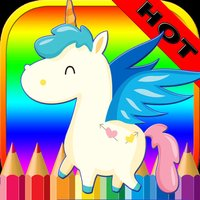 Pony Horse Coloring Book - Alphabets Drawing Pages and Painting Educational Learning skill Games For Kid & Toddler