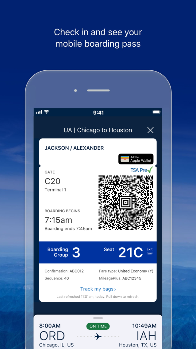 United Airlines App for iPhone - Free Download United