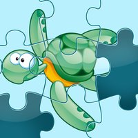 An Ocean Jigsaw Puzzle for Pre-School Children with Animals of the Sea