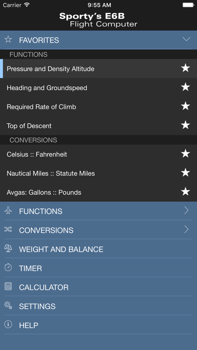 Sporty's E6B Flight Computer App for iPhone - Free Download Sporty's