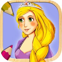 Rapunzel Coloring Book Game