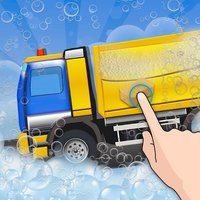 Garbage Truck Wash Salon : Cleanup Messy Trucks After Waste Collection