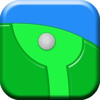 Guide The Golf Ball - keep the ball on the green line