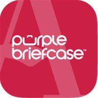 Albright Purple Briefcase