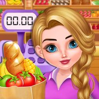 Supermarket Shopping and Cash Register
