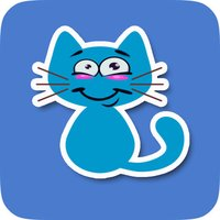 Animated Blue Cat Stickers for Messaging