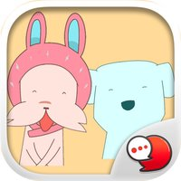 Dog and Cat is Friend Stickers By ChatStick