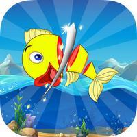 Fish Ninja - Be Ninja & cut flappy fish free Games