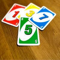 Uno color card game