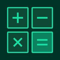 Luminous Calculator - 11 Colors and Button Sounds