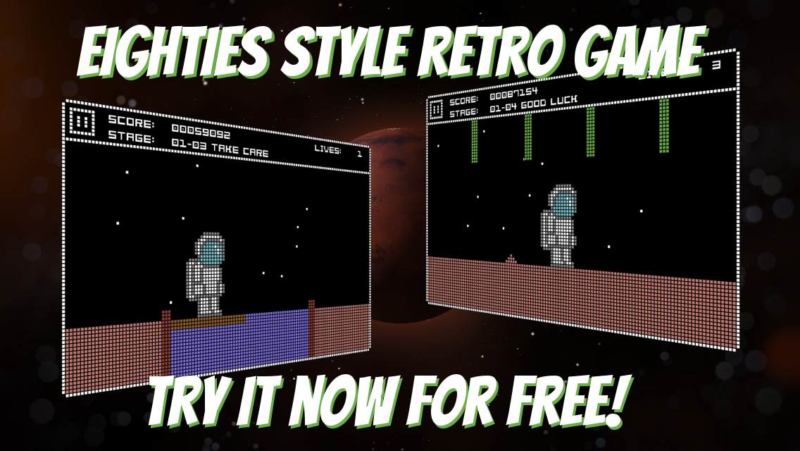 Mars Quest free retro 8-bit C64 game and cult remake of