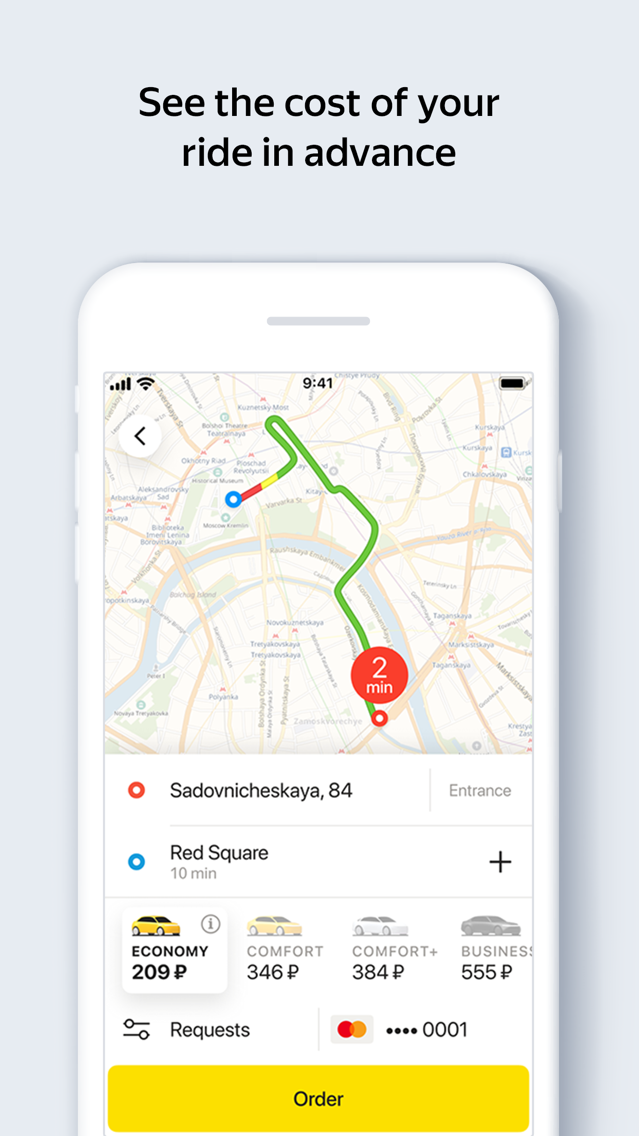 Yandex Taxi App for iPhone - Free Download Yandex Taxi for