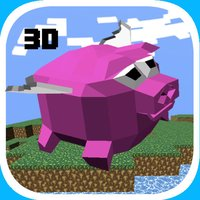Flappy Pig Bird 2 - The Magic 3D Shooter, Tap, Flap, Shoot and Slide