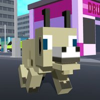 Blocky City Goat
