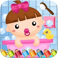 Little Babies Coloring Book World Paint and Draw Game for Kids