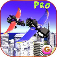 Flying Bike: Police vs Cops - Police Motorcycle Shooting Thief Chase PRO Game