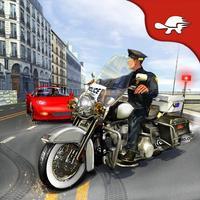 Police Chase Blast - Bike Rider
