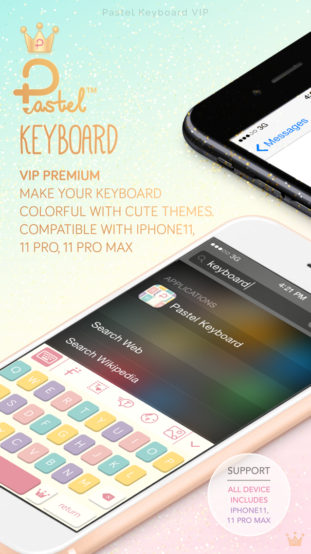 Pastel Keyboard - VIP Premium App for iPhone - Free Download